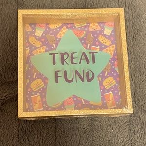 """""""Treat Fund"""" piggy bank. Brand New and sealed."""